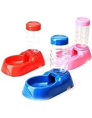 "Pet Dog Puppy Cat Kitten Automatic Water Dispenser Food Dish Bowl Feeder Bottle 21.5x12.5cm/8.5""x5.0""(LxW) Random"