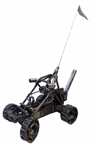 (Welded Metal Art Gnome Be Gone Dune Buggy Car )
