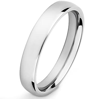 Titanium High Polished Mens Ring