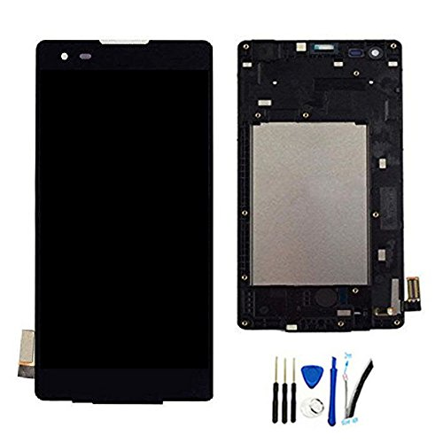 LCD Display Screen digitizer Touch Panel Assembly for LG Tribute HD LS676  Replacement Black W/Frame