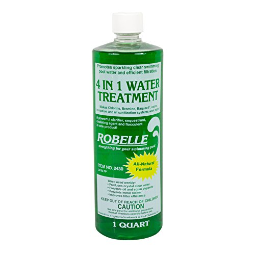 Robelle 2430 4-in-1 Water Treatment/Clarifier for Swimming Pools, 1-Quart