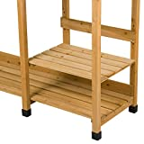Outdoor Wooden Garden Work Bench Station, Tabletop with Sink, Drawer and Open Storage Shelves, Solid Cedar Wood Construction Potting Benches for Outside