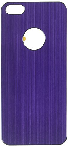 MyBat Brushed Metal Decal Shield Diamante Phone Protector Cover for Apple iPhone 5S/5 - Retail Packaging - Purple from MYBAT