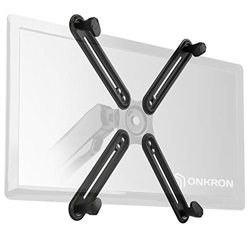 ONKRON VESA Adapter for Most 13 to 27-inch Non-VESA Monitors up to 17.6 lbs 75 x 75-100 x 100 A1V