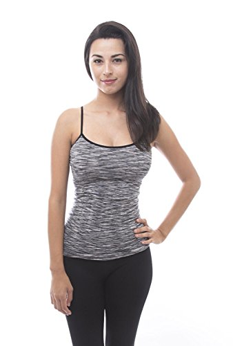 Dye Cami (Love Soho Women's Sports Fitness Space Dye Spaghetti Strap Tank Top)