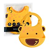 Marcus & Marcus Adjustable Silicone Baby Feeding Bib (Yellow Giraffe)