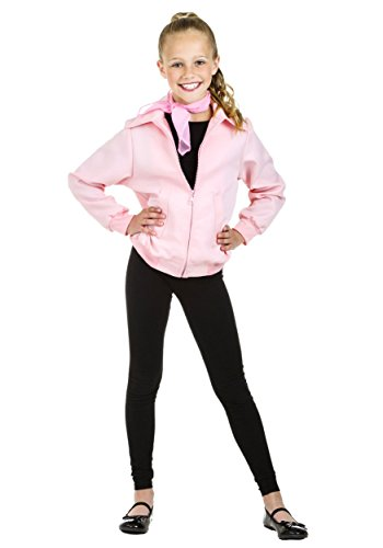 Child Deluxe Pink Ladies Jacket (Corpse Countess Girls Costumes)