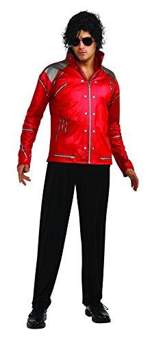 Jackson Zipper (Rubie's Men's Michael Jackson Value Beat It Red Zipper Costume Jacket, As Shown, Large)