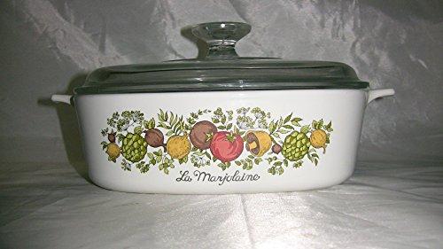 Vintage Corningware Spice of Life La Marjolaine 2 Liter Casserole Dish W/lid Vintage Corningware Spice