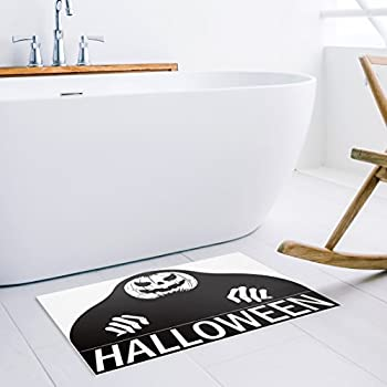 Sensitive SCREAMING DOORMAT Halloween Decoration Doormat,black and white 18x30inch