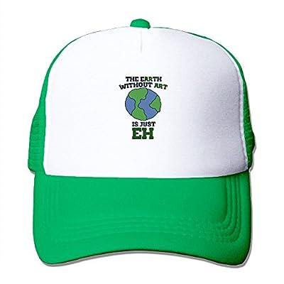Art Earth Baseball Cap Adjustable Snapback Mesh Trucker Hat from Swesa