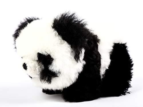 Raymis 100% Baby Alpaca Fur Standing Panda Bear Figure Toy