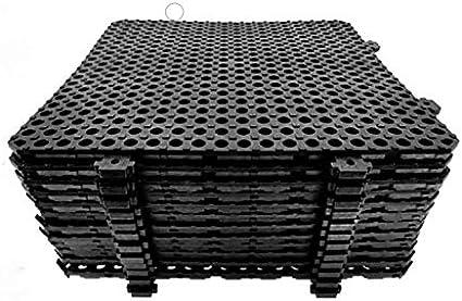 Losa tarima desmontable Náyade Block 30x30 NEGRA - Pack 12 Uds ...
