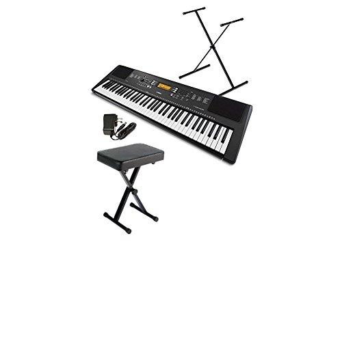 Yamaha PSREW300SA 76-Key Portable Keyboard Bundle with Stand, Bench and Power Supply