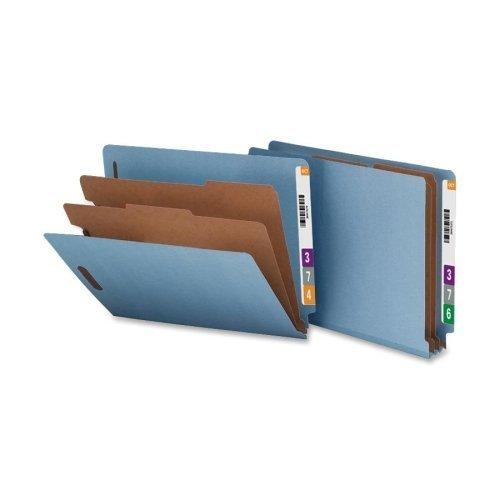 Classification Folder, End Tab, Ltr, 2-Div, 10/BX, Blue, Sold as 1 Box Nature Saver NATSP17371