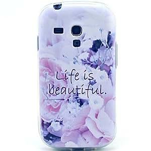 Teléfono Móvil Samsung - Cobertor Posterior - Gráfico/Patrón de Cuadrícula/Dibujos Animados - para Samsung S3 Mini I8190N ( Multi-color , Plástico )