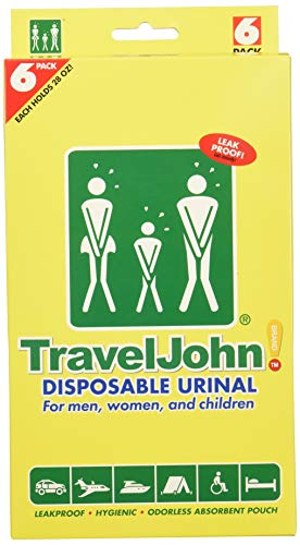 TravelJohn-Disposable Urinal (6 pack) ()