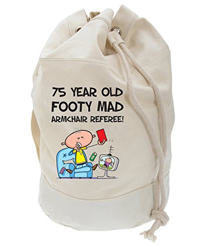 Backpack Bag Armchair Mad Present Duffle Referee 75th Birthday Men's Footy AOUqx