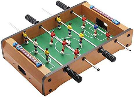 MJ-Games Mini Jugadores de futbolín/futbolín, Juego de Interior, niños, Familia, Juego, Deportes, diversión, Adecuado para Personas Mayores de Tres años, marrón: Amazon.es: Hogar
