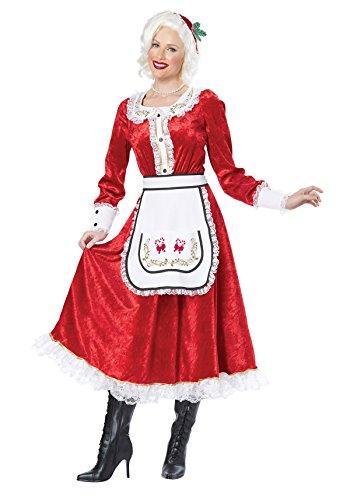 California Costumes Women's Classic Mrs. Claus Adult, Red/White, (Costume Of Santa Claus)