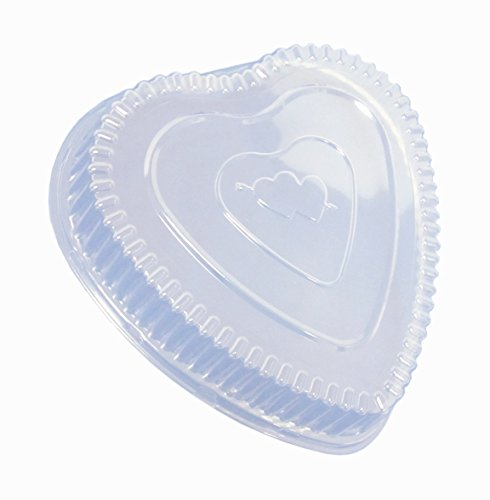 Durable Packaging Plastic Dome Lid for Aluminum Heart Pan...