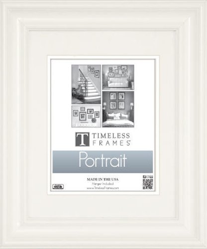 Timeless Frames Lauren Portrait Wall Photo Frame, 16 by 20-Inch, Pure White (Portrait Picture)