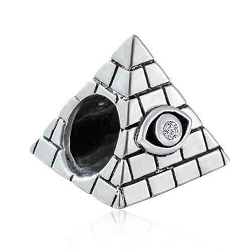 Egyptian Egypt Pyramid Necklace Evil Eye 925 Sterling Silver Vacation Travel Bead Christmas Gifts for European Women Bracelet