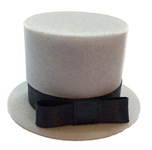 Sheep Dreams Top Hat Shaped Ring Box, Engagement Ring Box, Alto Somprero Caja por Anillo de Compromiso (Light Grey) Flocked Top Hat