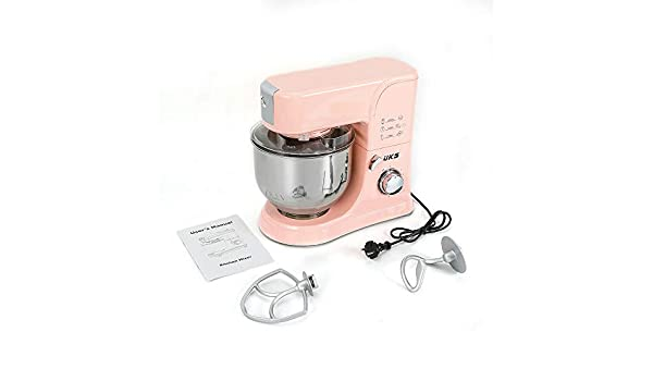 Robot de cocina de Oukaning, amasadora, 8 velocidades, cabeza inclinada y pies antideslizantes, 1000 W: Amazon.es: Hogar