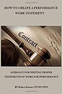 how to write a statement of work peter s cole michael g martin