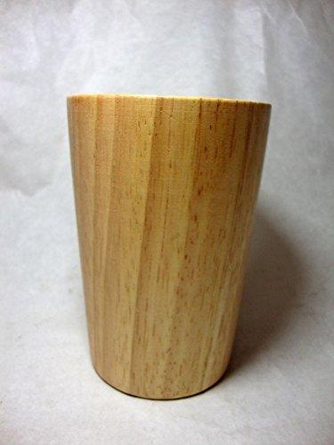 CUP MUG WOOD UTENSIL KITCHENWARE THAI HANDCRAFT NATURAL PALM WOOD SIZE 4