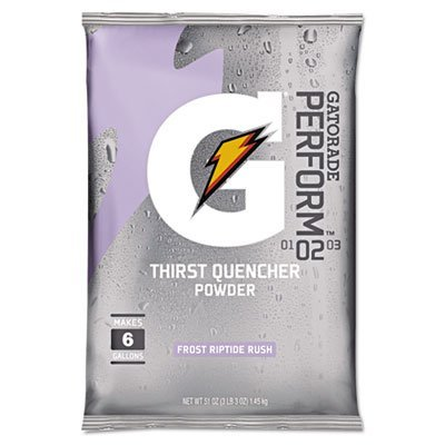 Gatorade Instant Powder - 6gal. riptide rush powder mix 14-51oz. pkgs by Gatorade by Gatorade
