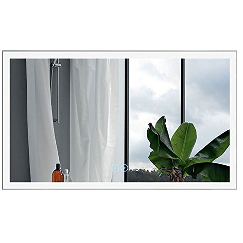 Decoraport 48 x 28 in Horizontal LED Bathroom Mirror with Anti-Fog Function -