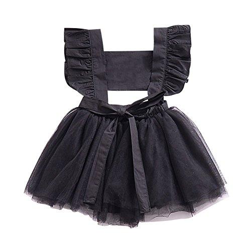 3ab6d8ee5 wongfon vestido sin respaldo para niñas Bowknot Vestido Moda Falda de manga  larga de terciopelo de pana para 1 - 5 años 1-2 anni Negro  Amazon.es  Bebé