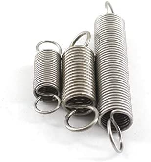 10pcs Stainless Steel Extension Spring With Hooks Small Tension Springs 0.8mm Thickness Long Extension Springs WNJ-TOOL Size : 0.8x8x20mm