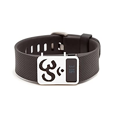 sterling silver Om slide for Fitbit Charge & Charge HR