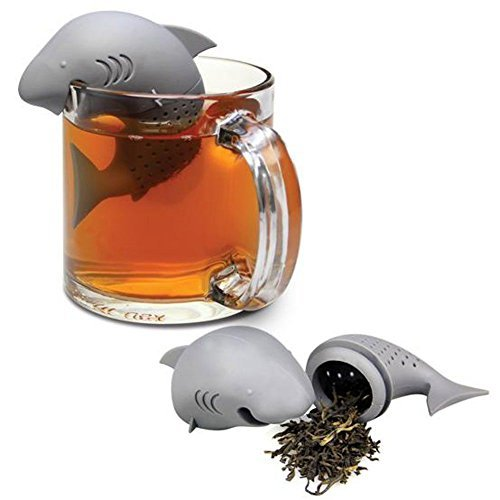 HeroNeo Cute Silicone Shark Infuser Loose Tea Leaf Strainer Herbal Spice Filter Diffuser