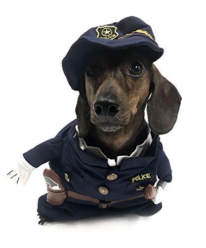 Midlee Fake Arms Policeman Dog Costume (Small Dog -