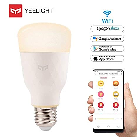 Yeelight Bombilla LED E27,Original WiFi Bombilla 10W 800lm 2700K-6500K No regulable Bombilla