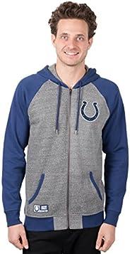 Icer Brands NFL Mens NFL Men's Full Zip Contrast Raglan Hoodie Sweatshirt Ja