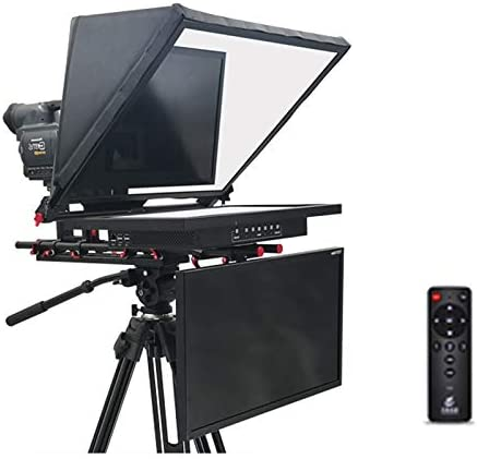 MEILINL Teleprompter Kit para Noticias Entrevista Conferencia Speech Studio Teleprompter Dedicado Lector De Voz con Control Remoto Y Host Integrado para Entrevistas/Programas,Dual Screen