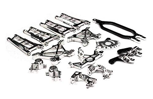 Integy RC Model Hop-ups T8558SILVER Billet Machined Alloy Conversion Set for Traxxas 1/10 Stampede 4X4