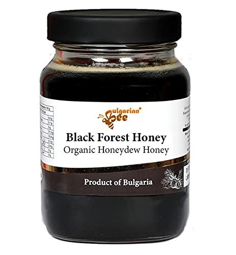 450 g Bio Rauwe Zwarte Woudhoning, Eikenbos Honing, Natuurlijk, Puur, Onverwarmd