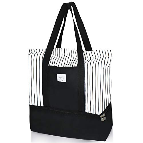 2-in-1 Large Insulated Cooler lunch Tote Bag Ladies