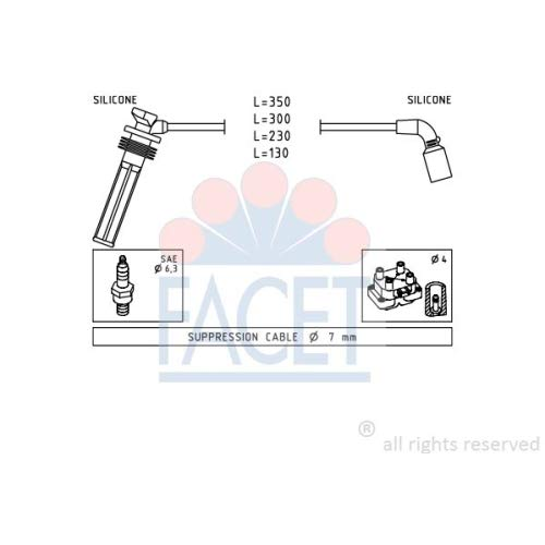 Facet 4.7249 Ignition Leads Kit: