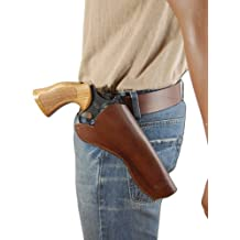 NEW Barsony Brown Leather Cross-Draw Gun Holster for 6 inch Revolvers