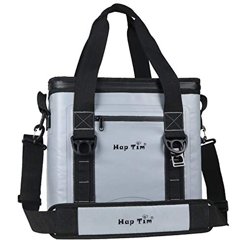 Hap Tim Cooler Bag 30 Cans Leak-Proof Soft Cooler, Portable Ice Cooler for Beach, Hiking, Camping, Picnic, Party, Sports, Sea Fishing (TL52005-G)