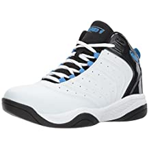 AND1 Men's Drive Basketball Shoe, White/Black/Silver, 10.5 M US