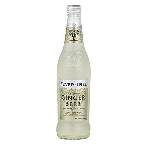 Fever-Tree Premium Ginger Beer, 16.9 Fl Oz Glass Bottle (8 Count)