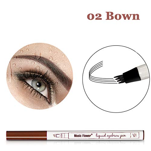 Vanelc Eyebrow Tattoo Pen Microblading Eyebrow Pencil Tattoo Brow Ink Pen a Micro-Fork Tip,Long Lasting,Smudge-Proof Natural Hair-Like Defined Brows and Stays on All Day (Brown)